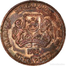 Monedas antiguas de Asia: MONEDA, SINGAPUR, CENT, 1986, BRITISH ROYAL MINT, BC+, BRONCE, KM:49. Lote 194745262