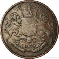 Monedas antiguas de Asia: MONEDA, INDIA BRITÁNICA, BOMBAY PRESIDENCY, 1/4 ANNA, PAISA, 1833, CALCUTTA. Lote 194747975