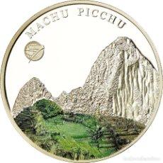Monedas antiguas de Asia: MONEDA, MONGOLIA, MACHU PICCHU, 500 TUGRIK, 2008, PROOF, FDC, PLATA, KM:225. Lote 194747986