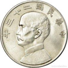 Monedas antiguas de Asia: MONEDA, CHINA, REPÚBLICA DE, DOLLAR, YUAN, 1934, EBC, PLATA, KM:345. Lote 194750975