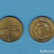 Monedas antiguas de Asia: KOREA DEL NORTE: 1 CHON 2002. ANTIGUO COCHE.. Lote 206282150