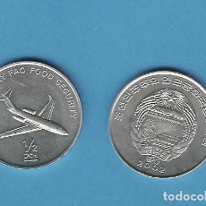 Monedas antiguas de Asia: KOREA DEL NORTE: 1/2 CHON 2002. MEDIOS DE TRANSPORTE. AVIÓN. ALUMINIO. Lote 194880752