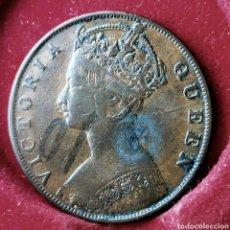 Monedas antiguas de Asia: RARA. HONG KONG 1 CENT 1879 KM# 4.2. GRAFFITI EN TINTA. Lote 195144947