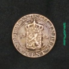 Monedas antiguas de Asia: MONEDA 1/2 CENT INDIA ORIENTAL NEERLANDESA (HOLANDESA) 1945 - CENTAVO. Lote 195315301