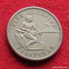 Monedas antiguas de Asia: FILIPINAS PHILIPPINES 5 CENTAVOS 1925. Lote 195341222