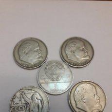 Monedas antiguas de Asia: LOTE DE RUBLOS LENIN 1 RUBLO URSS RUSIA 1979 JUEGOS OLÍMPICOS 1980 SPUTNIK Y SOJUZ. Lote 195425207
