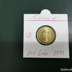 Monedas antiguas de Asia: TURQUIA(TURKIA) 100 LIRAS 1989 S/C KM 988. Lote 195505798