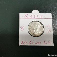 Monedas antiguas de Asia: TURQUIA(TURKIA) 250 BIN LIRA(250.000 LIRAS) 2002 S/C KM 1137. Lote 195509902