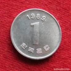 Monedas antiguas de Asia: COREA DEL SUR 1 WON 1989 KOREA. Lote 195513055
