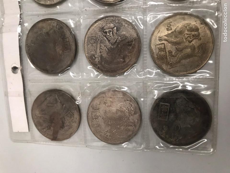 Monedas antiguas de Asia: Monedas horoscopo China 4ctms yin yang - Foto 2 - 196040643