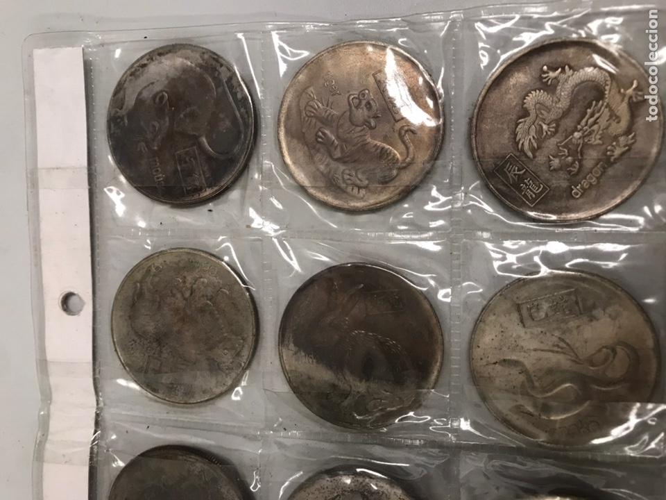 Monedas antiguas de Asia: Monedas horoscopo China 4ctms yin yang - Foto 3 - 196040643