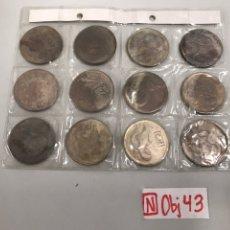 Monedas antiguas de Asia: MONEDAS HOROSCOPO CHINA 4CTMS YIN YANG. Lote 196040643