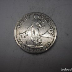 Monedas antiguas de Asia: FILIPINAS, 50 CENTAVOS DE PLATA DE 1908. ADMINISTRACIÓN NORTEAMERICANA. Lote 197042346