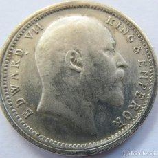 Monedas antiguas de Asia: INDIA BRITANICA 1 RUPIA 1903 EDUARDO VII PLATA. Lote 198997976