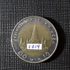 Monedas antiguas de Asia: TAILANDIA 10 BAHTS 2014 Y459. Lote 200013290