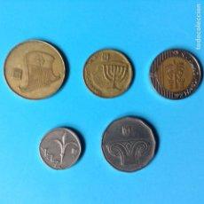 Monedas antiguas de Asia: ISRAEL LOTE 5 MONEDAS DIFERENTES. Lote 200804425