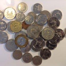 Monedas antiguas de Asia: SINGAPUR LOTE DE 35 MONEDAS SURTIDAS LA MAYORÍA DIFERENTES. Lote 201621991