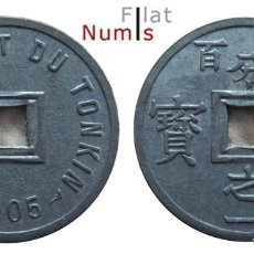 Monedas antiguas de Asia: VIETNAM - TONKIN - 1/600 DE PIASTRA - 1905 - ZINC - NO CIRCULADA. Lote 204751508