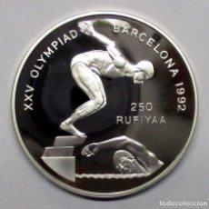 Monedas antiguas de Asia: MALDIVAS 1990. 250 RUFIYAA EN PLATA CONMEMORATIVA DE LAS OLIMPIADAS DE BARCELONA 1992 LOTE 2825. Lote 205160461