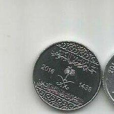 Monedas antiguas de Asia: MONEDA DE ARABIA SAUDI 5 HALLALAS 2016 SC DE CARTUCHO. Lote 205371916