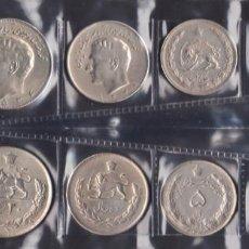 Monedas antiguas de Asia: IRAN - SERIE COMPLETA - 1964/1986 - NO CIRCULADA - ESCASA. Lote 263883165