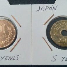 Monedas antiguas de Asia: LOTE EXÓTICO. JAPÓN. MONEDAS DE 5 Y 10 YENES. Lote 205835697