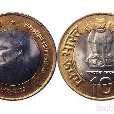 Monedas antiguas de Asia: INDIA 10 RUPIAS DE HOMI BHABHA 2009, SC. Lote 206305916