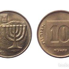 Monedas antiguas de Asia: ISRAEL MONEDA DE 10 AGOROT SC. Lote 206314058