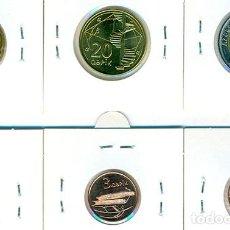 Monedas antiguas de Asia: AZERBAIYÁN SERIE COMPLETA (6 MONEDAS) 1, 3, 5, 10, 20 Y 50 QƏPIK / MANAT ND ( 2006 ) ( SC ). Lote 206412855