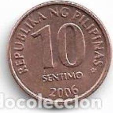 Monedas antiguas de Asia: FILIPINAS,10 SENTIMO 2006.. Lote 206490291