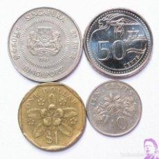 Monedas antiguas de Asia: LOTE MONEDAS SINGAPUR DOLAR CENTIMOS SINGAPURA SINGAPORE DOLLAR CENTS . VARIOS AÑOS . REF. 870. Lote 206511985