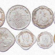 Monedas antiguas de Asia: LOTE MONEDAS MYANMAR BIRMANIA BURMA KYAT PYAS . VARIOS AÑOS . REF.900. Lote 206512315