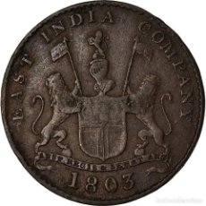 Monedas antiguas de Asia: MONEDA, INDIA BRITÁNICA, MADRAS PRESIDENCY, 5 CASH, 1 FALUS, 1803, SOHO MINT. Lote 207114076