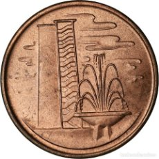 Monedas antiguas de Asia: MONEDA, SINGAPUR, CENT, 1967, SINGAPORE MINT, SC, BRONCE, KM:1. Lote 207123182
