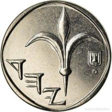 Monedas antiguas de Asia: MONEDA, ISRAEL, NEW SHEQEL, 2007, SC, NÍQUEL CHAPADO EN ACERO, KM:160A. Lote 207153981