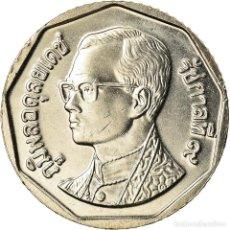 Monedas antiguas de Asia: MONEDA, TAILANDIA, RAMA IX, 5 BAHT, 2001, SC+, COBRE - NÍQUEL RECUBIERTO DE. Lote 207208178