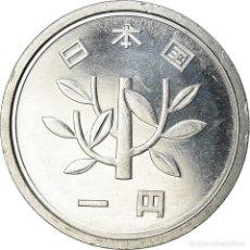 Monedas antiguas de Asia: MONEDA, JAPÓN, AKIHITO, YEN, 1996, SC, ALUMINIO, KM:95.2. Lote 207214552