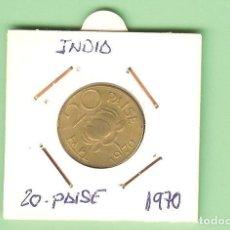 Monete antiche di Asia: INDIA 20 PAISE 1970. NÍQUEL-LATÓN. KM#41. Lote 209727640