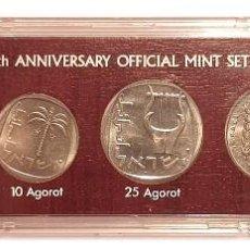 Monedas antiguas de Asia: ESTUCHE 6 MONEDAS ISRAEL 1977. Lote 210225306