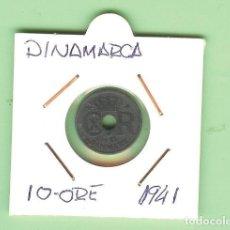 Monedas antiguas de Asia: DINAMARCA. 10 ORE 1941. ZINC. KM#822.A. Lote 210352813