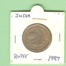 Monedas antiguas de Asia: INDIA. 1 RUPIA 1989. ALIMENTACIÓN Y MEDIO AMBIENTE. CUPRONÍQUEL. KM#84. Lote 210366720