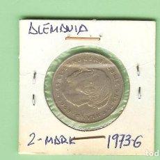 Monedas antiguas de Asia: ALEMANIA. 2 MARK 1973-G. HEUSS. CUPRONÍQUEL. KM#A127. Lote 210367751