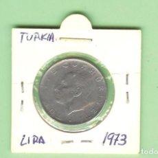 Monedas antiguas de Asia: TURKIA. 1 LIRA 1973. ACERO INOXIDABLE. KM#889.A2. Lote 210369296