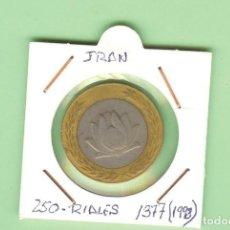 Monedas antiguas de Asia: IRAN. 250 RIALES 1377/1998. BIMETÁLICA. KM#1262. Lote 210372326