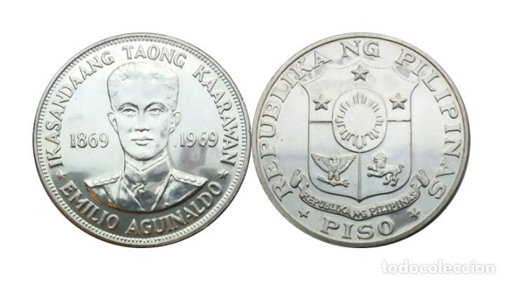 BONITA - MONEDA FILIPINAS - PISO 1969, NAC EMILIO AGUINALDO, PLATA (Numismática - Extranjeras - Asia)
