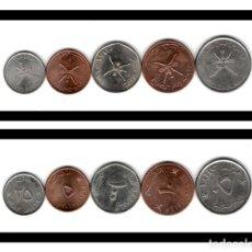 Monedas antiguas de Asia: OMAN SET 5 10 25 50 100 BAISA 1984/2013 KM 68-150-151-152-153 S/C. Lote 211587542