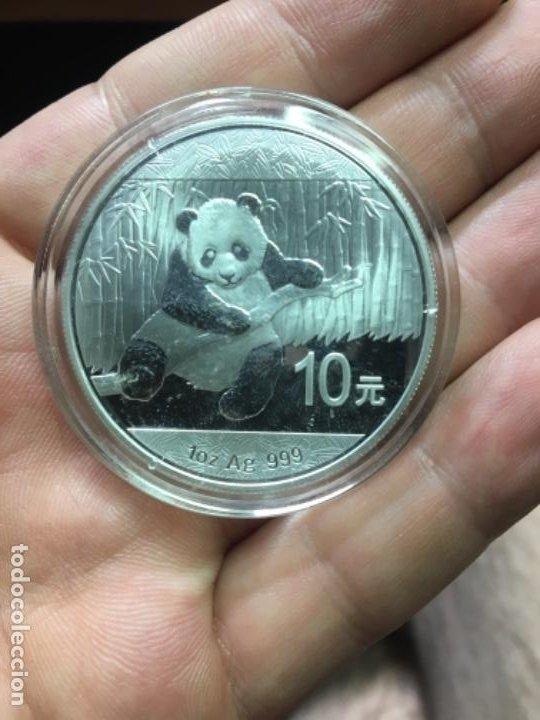 ONZA DE PLATA PANDA 10 YUAN 2014 ENCAPSULADA S C (Numismática - Extranjeras - Asia)