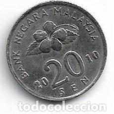 Monedas antiguas de Asia: MALASIA,20 SEN 2010.M. Lote 213741291