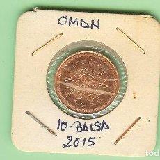 Monedas antiguas de Asia: OMAN. 10 BAISA 2015. 45 ANIVERSARIO DEL SULTANATO. ACERO CON BRONCE. UC#2. Lote 213750981