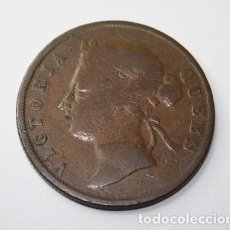 Monedas antiguas de Asia: 431,, RARA MONEDA DE MALASIA-STRAITS SETTLEMENTS, 1 CENT COBRE 1901, BC+. Lote 213779030